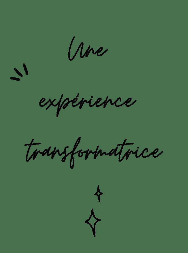 image et texte decrivant l'experience transformatrice du yoga
